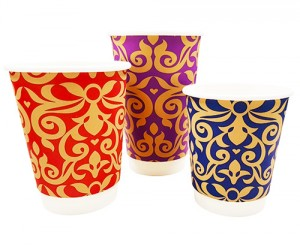 Boutique Double Wall Paper Coffee Cups & Lids
